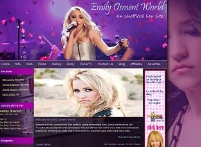 screen capture of Emily Osment World