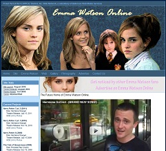 screen capture of emma watson online