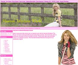 screen capture of hannah montana world